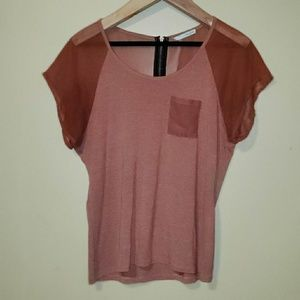 Womens Maurices Color Block Blouse Size XL Sheer